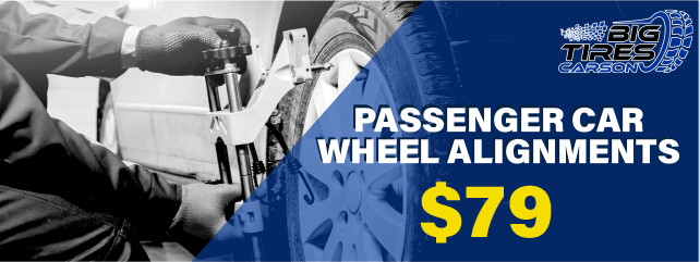 PASSENGER CAR WHEEL ALIGNMENTS, only $79.99. *Please Note, Additional Fees may vary pending on vehicle.