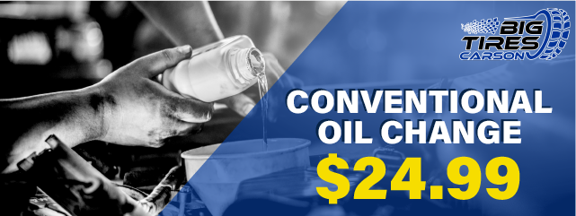 CONVENTIONAL OIL CHANGE, only $24.99. *Please Note, Additional Fees may vary pending on vehicle.